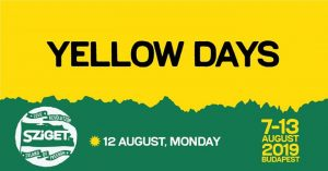 Yellow Days // Sziget 2019 - official event @ Sziget Festival Official | Budapest | Hungary